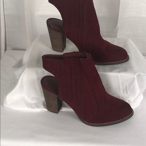 Cato suede half boots size 10